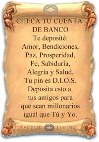 Checa tu banco tu pin Dios