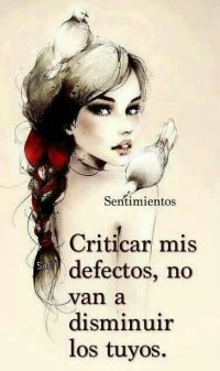 criticar mis defectos